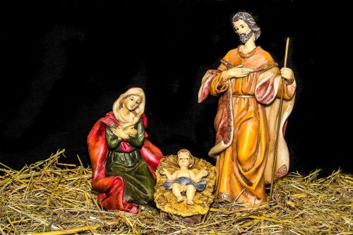 christmas crib figures jesus child birth of jesus
