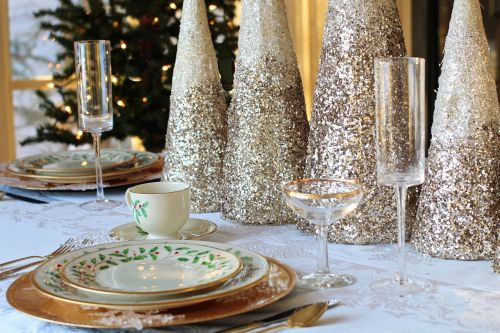 christmas dinner christmas table table setting