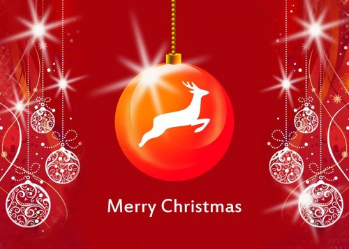christmas greeting card happy holidays red