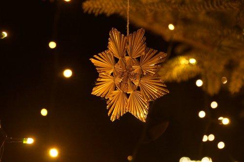 christmas hanging  advent  strohstern