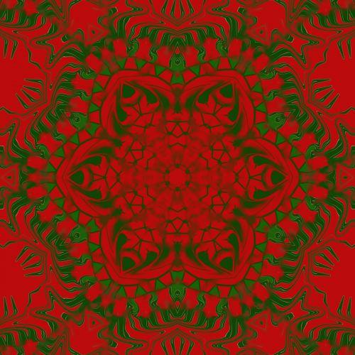 Kaleidoskopas, abstraktus, raudona, žalias, xmas, Kalėdos, Kalėdų kaleidoskopas 2
