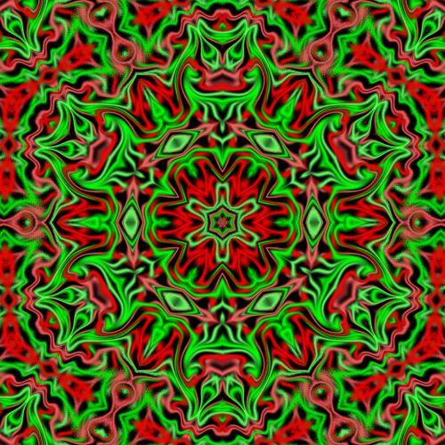 Kaleidoskopas, abstraktus, raudona, žalias, juoda, xmas, Kalėdos, Kalėdų kaleidoskopas 3