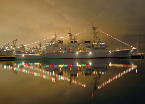christmas lights decoration navy