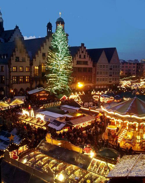Kalėdos,turgus,medis,Frankfurtas yra pagrindinė Vokietija,Vokietija