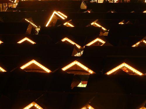 christmas market christmas lights