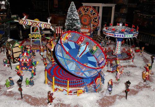 christmas market miniatures fairground-model