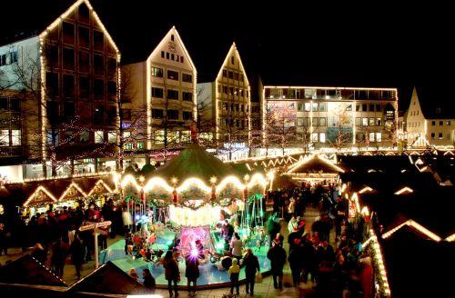 christmas market ulm lights