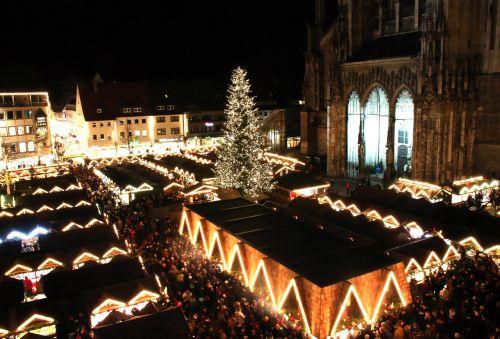 christmas market ulm ulm cathedral