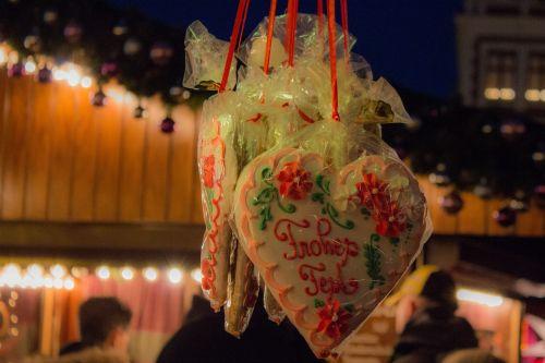 christmas market gingerbread heart christmas