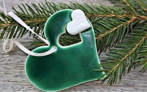 christmas ornaments  christmas  heart