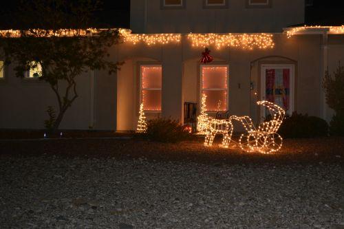 Christmas Party Lights Yard Santa