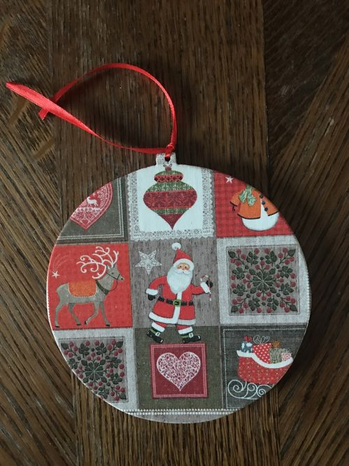 christmas pendant for a gift decoupage