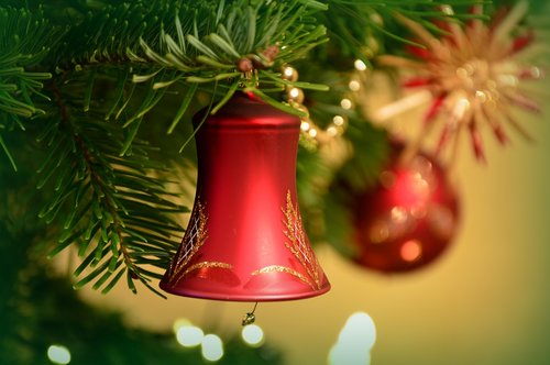 christmas picture  christmas decorations  bell