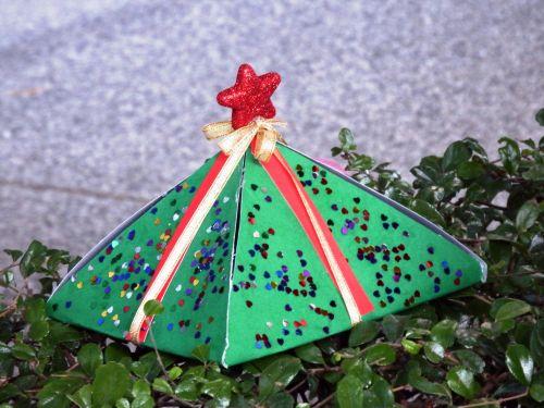 Christmas Present On A Tree
