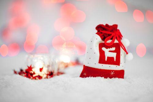 maišas, šventė, Kalėdos, koncepcija, gruodžio mėn ., apdaila, dekoratyvinis, šventinis, dovanos, šventė, pateikti, raudona, maišas, sezonas, sezoninis, žiema, xmas, šiaurės elniai, sniegas, Kalėdų maišas
