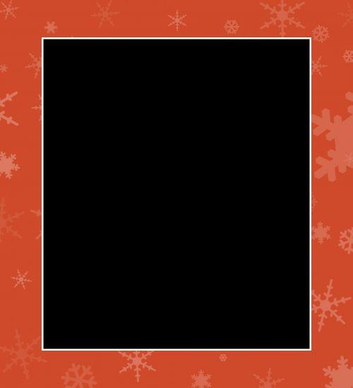 Christmas Snowflakes Frame Border