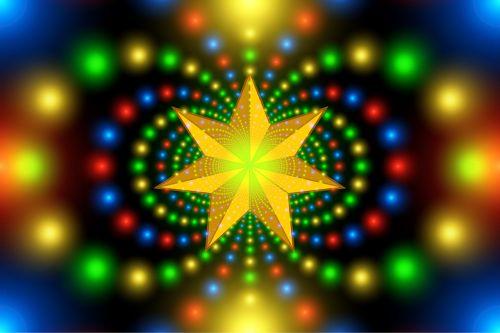 christmas star fractal symmetry