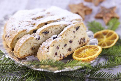 christmas stollen christmas sweets fruitcake
