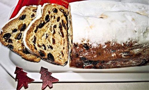 christmas stollen  christmas cookies  yeast biscuits