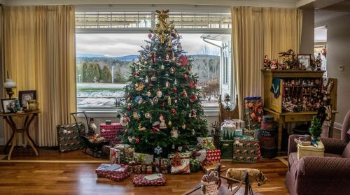 christmas tree traditional decor home