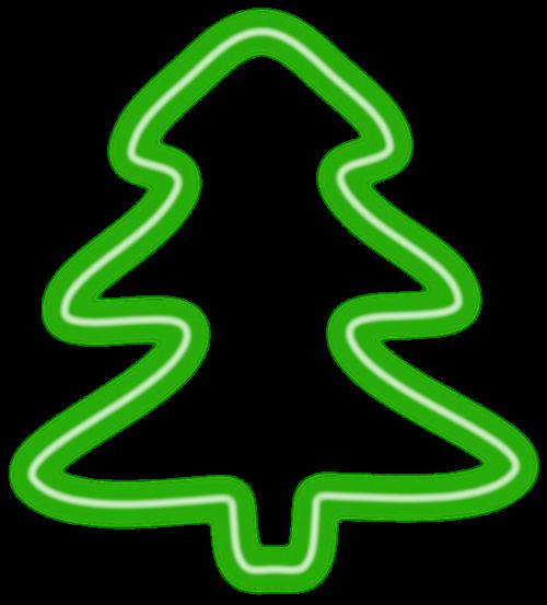 christmas tree neon herbaceous