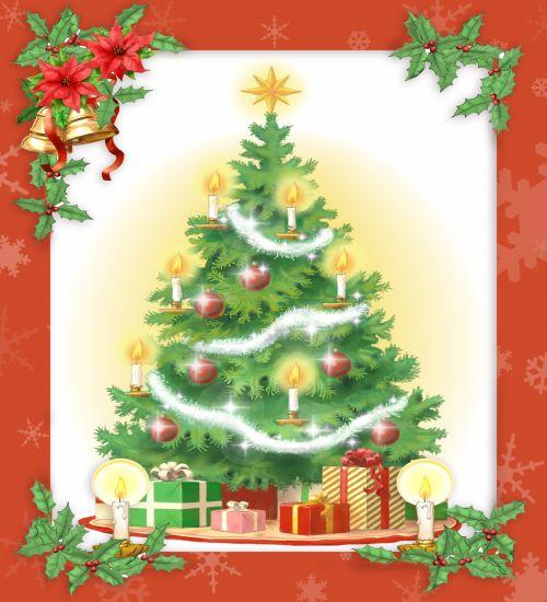 Christmas Tree Vintage Card