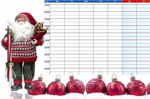 Christmas Weekly Planner