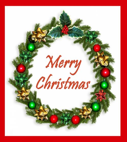 Christmas Wreath Traditional Card