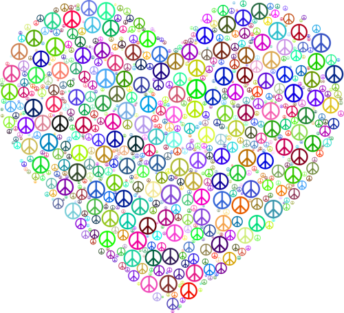 chromatic colorful hearts