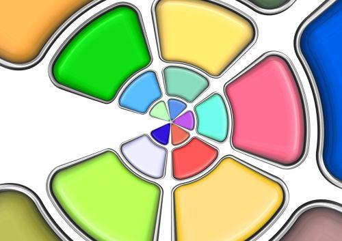 chromaticity diagram color colorful