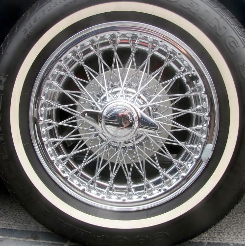 chrome car wheel spoke wheel