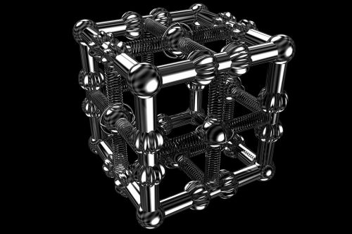 chrome metal cubic