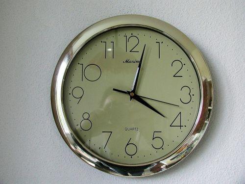 chrome clock clocks