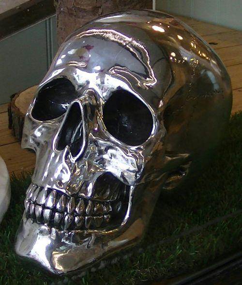 baugus, skeletas, skeletas, nerūdijantis, plienas, metalas, chromas, kaukolė, kaukolės, creepy, įsiuvas, gory, siaubas, Halloween, vaiduoklis, vaiduoklis, vampyras, ghouls, Zombie, zombiai, baimė, bauginantis, košmaras, košmarai, velnias, velniška, chromo skeleto kaukolė