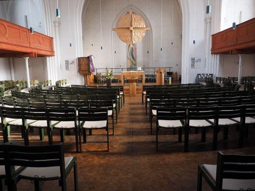 church interior chairs