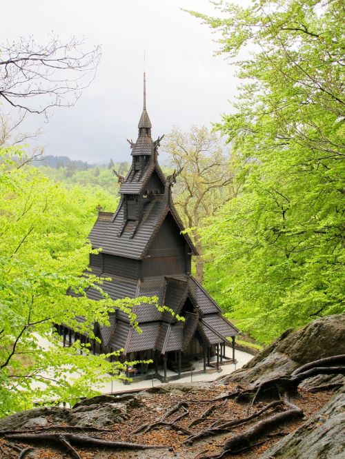church standing timber norway