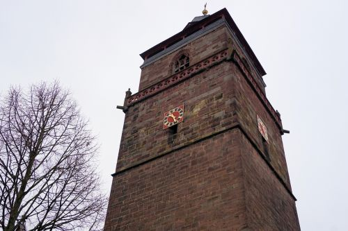 church tower clock tower