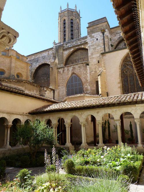 church cloister garden