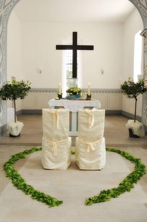 church wedding altar