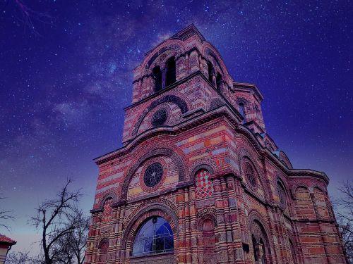 free desktop wallpapers church night