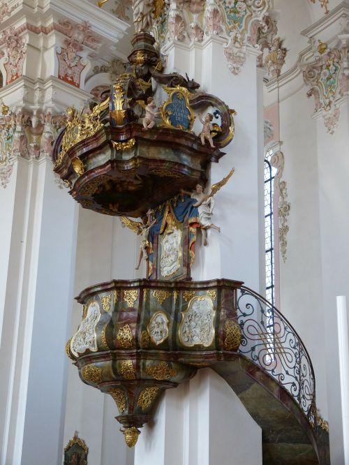 church baroque pulpit