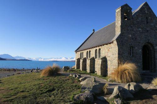 bažnyčia,Naujoji Zelandija,ežeras
