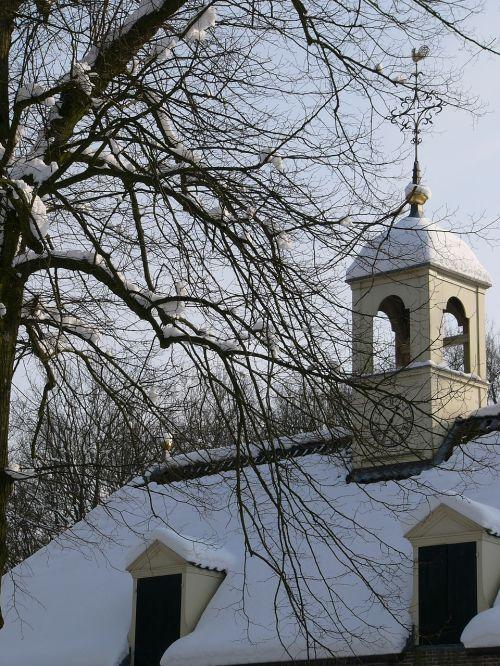 bažnyčia,sniegas,šaltis,ledas,žiemos peizažas,gruodžio mėn .,snieguotas,žiema,echten,drenthe,užšaldyti,sniego kraštovaizdis,užšaldymas