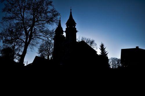 bažnyčia,linz,šešėlis,kontūras