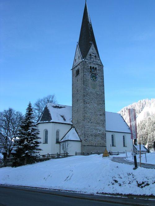 church mittelberg kleinwalsertal
