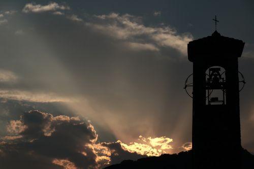 church clouds atmosphere