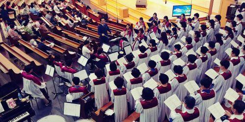 church choir praise up