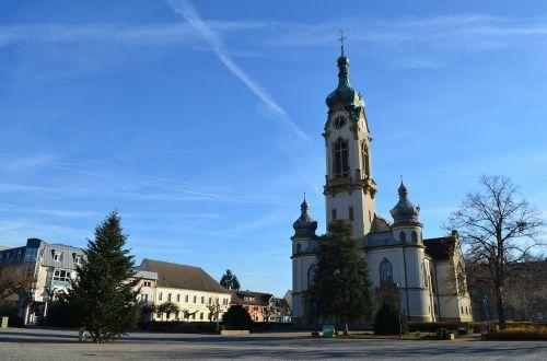 bažnyčia,Hockenheim germany,protestantas