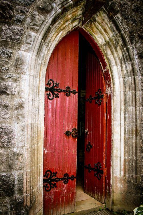 church door red door