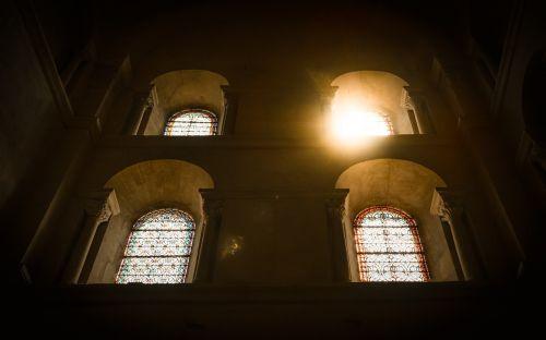 church windows sun